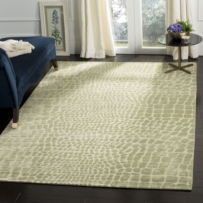 Amazonia Hand-Tufted Beige/Gray Area Rug Rug Size: Rectangle 56 x 86