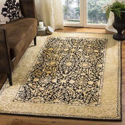 Silk Road Black/Ivory Area Rug Rug Size: Rectangle 5 x 8