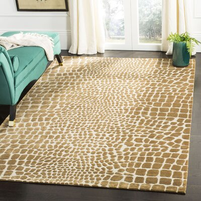 Amazonia Hand-Tufted Beige/Green Area Rug Rug Size: Rectangle 56 x 86