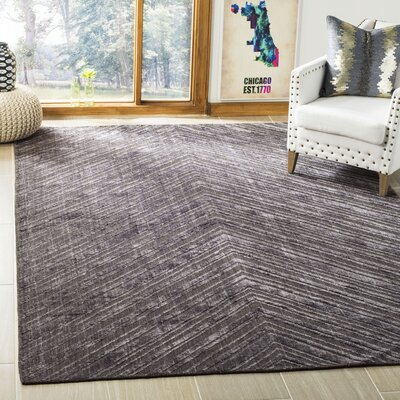 Mirage Charcoal Area Rug Rug Size: Rectangle 6 x 9