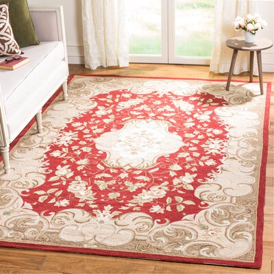 DuraArea Rug Red/Sage Area Rug Rug Size: Rectangle 6 x 9