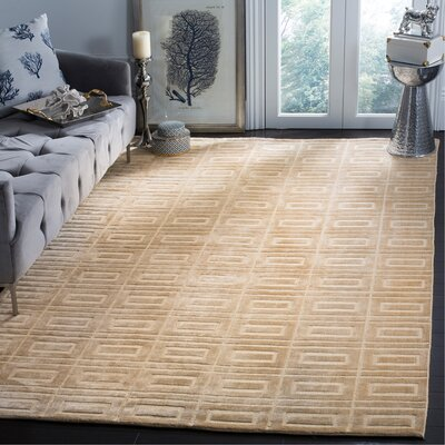 Mirage Champagne Area Rug Rug Size: Rectangle 9 x 12