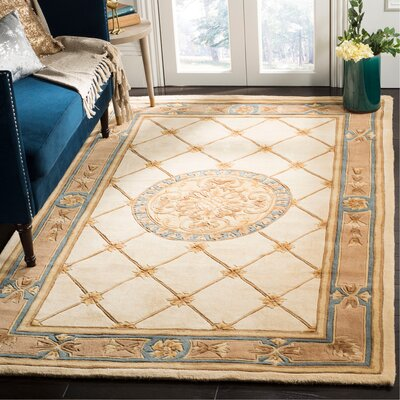 Naples Ivory/Caramel Area Rug Rug Size: Rectangle 5 x 8