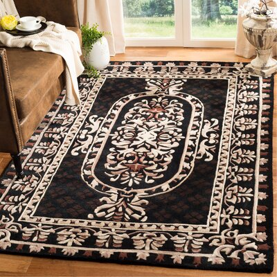 Naples Black Area Rug Rug Size: Rectangle 5 x 8