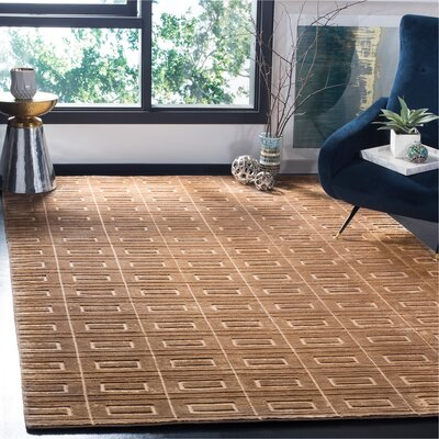 Mirage Camel Area Rug Rug Size: Rectangle 6 x 9