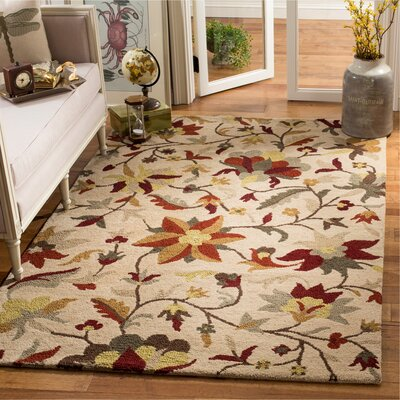 Jardin Beige/Multi Rug Rug Size: Rectangle 5 x 8