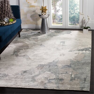 Wildhollow Tibetan Hand Knotted Silver Area Rug Rug Size: Rectangle 8 x 10