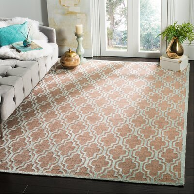Wildhollow Tibetan Hand Knotted Bark/Light Blue Area Rug Rug Size: Rectangle 6 x 9