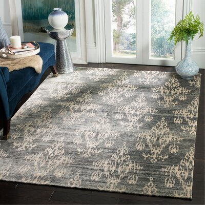 Wildhollow Tibetan Hand Knotted Graphite Area Rug Rug Size: Rectangle 6 x 9