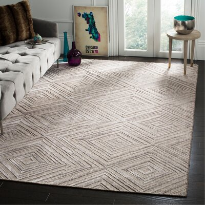Mirage Gray Area Rug Rug Size: Rectangle 8 x 10