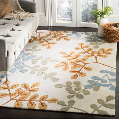 Modern Art Ivory/Multi Rug Rug Size: Rectangle 5 x 8