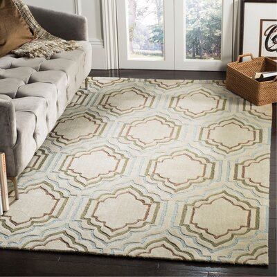 Modern Art Beige Area Rug Rug Size: Rectangle 5 x 8