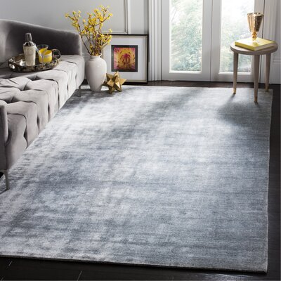 Mirage Hand-Woven Light Gray Area Rug Rug Size: Rectangle 9 x 12