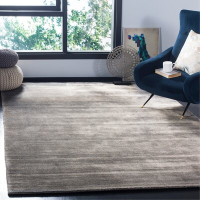 Mirage Hand-Woven Stone Area Rug Rug Size: Rectangle 6 x 9