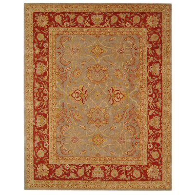 Anatolia Grey/Red Area Rug Rug Size: Rectangle 5 x 8