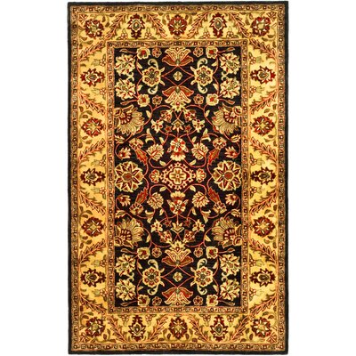 Golden Jaipur Black/Gold Area Rug Rug Size: Rectangle 9 x 12
