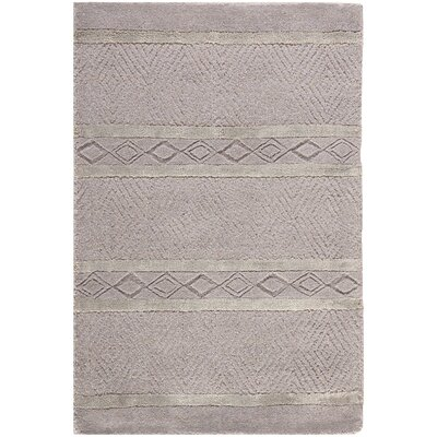Soho Hand-Woven Wool Light Gray Outdoor Area Rug Rug Size: Rectangle 83 x 11