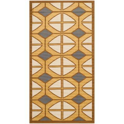 Hampton Ivory Geometric Outdoor Area Rug Rug Size: Rectangle 8 x 11