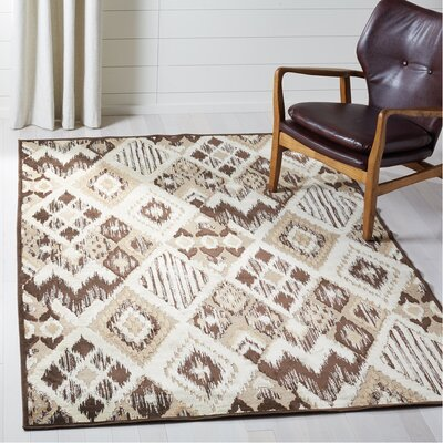 Thom Felica Brown/Taupe Area Rug Rug Size: Rectangle 53 x 76