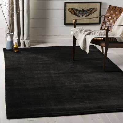 Mirage Black Area Rug Rug Size: Rectangle 5 x 8
