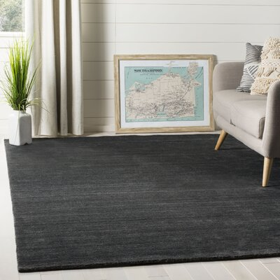 Mirage Hand-Woven Anthracite Area Rug Rug Size: Rectangle 6 x 9