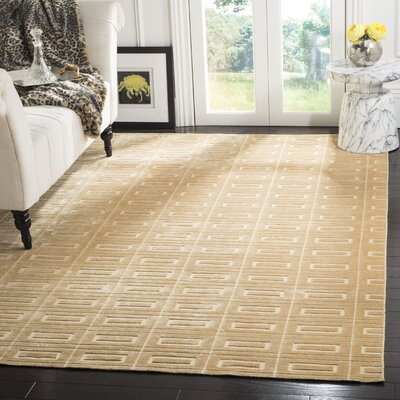 Mirage Champagne Area Rug Rug Size: Rectangle 6 x 9