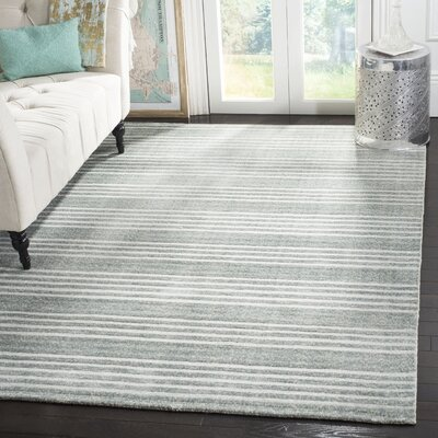 Alaina Hand-Knotted Blue Area Rug Rug Size: Rectangle 6 x 9
