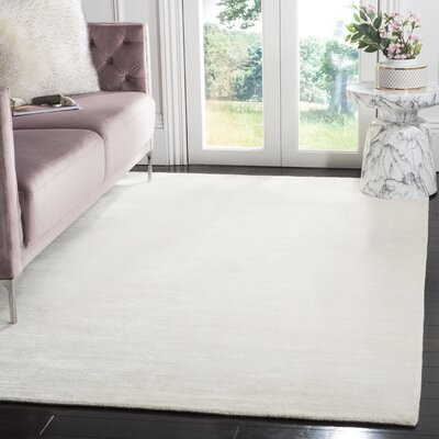 Mirage Handmade Beige Area Rug Rug Size: Rectangle 5 x 8