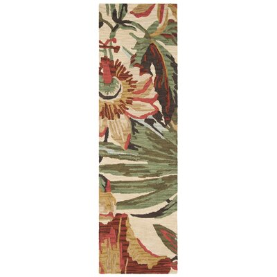 Jardin Ivory / Multi Floral Area Rug Rug Size: Runner 23 x 8