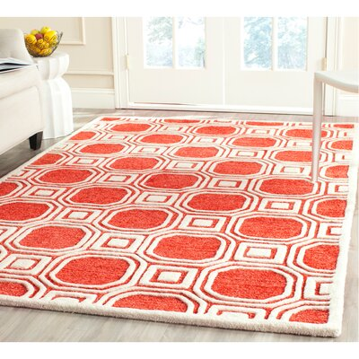 Precious Rose Rug Rug Size: Rectangle 4 x 6