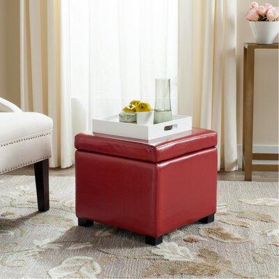 Jonathan Storage Ottoman Upholstery: Red