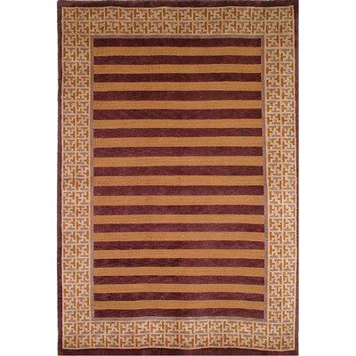 Youmans Hand Knotted Wool Area Rug Rug Size: Rectangle 6 x 9
