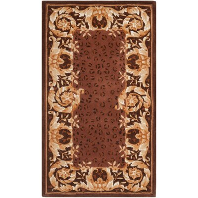 Naples Assorted Brown Area Rug Rug Size: Runner 23 x 10