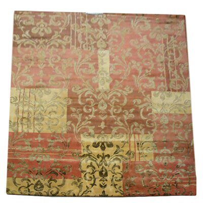 Soho Red / Dark Gold Contemporary Rectangular Rug Rug Size: 6 x 9