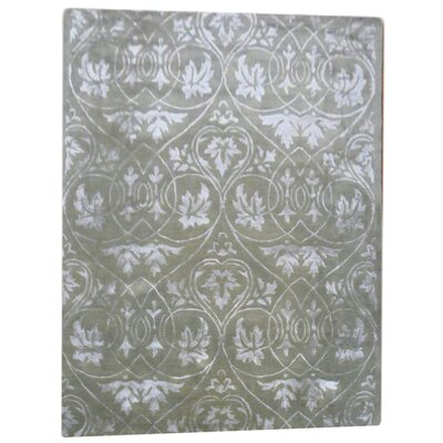 Soho Light Green Contemporary Rectangular Rug Rug Size: 6 x 9