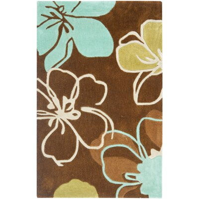 Modern Art Brown/Multi Rug Rug Size: Rectangle 4 x 6