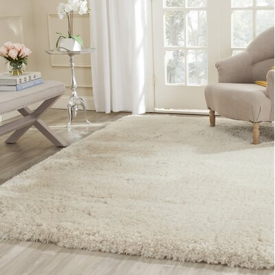 Dax Shag Hand-Tufted Beige Area Rug Rug Size: Rectangle 5 x 76