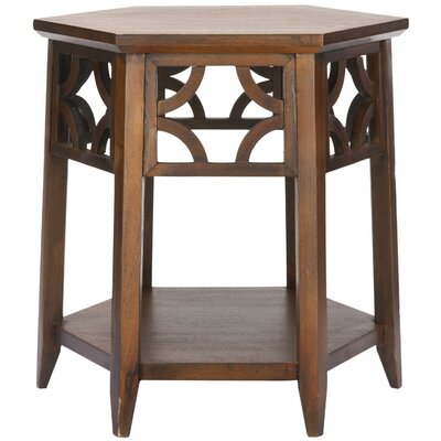 Connor Hexagon End Table Color: Brown