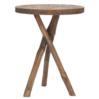 Cheap Safavieh Jude Tripod Round End Table in Light Brown (FV17756)