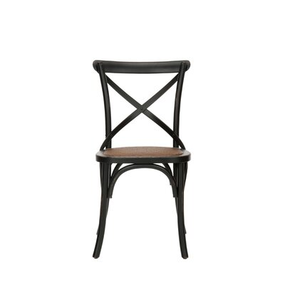 Low Price Safavieh Logan X Back Chair (Set of 2) Finish: Black