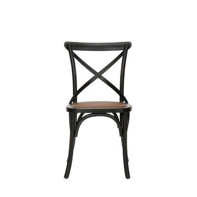 Low Price Safavieh Logan X Back Chair (Set of 2) Finish: Black