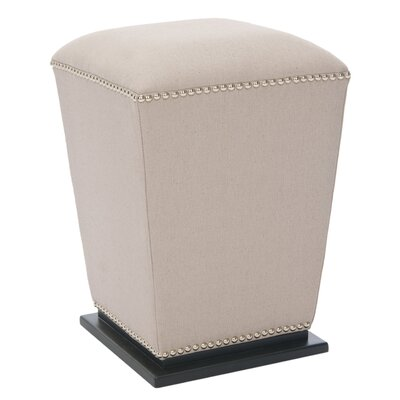 Mason Leather Ottoman Upholstery: Taupe