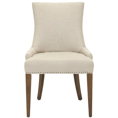 No credit financing Becca Side Chair Upholstery: Linen ...