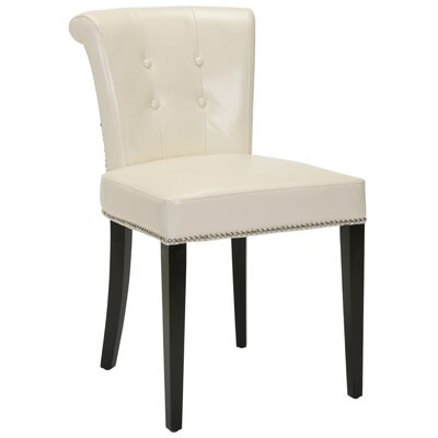 Arion Ring Side Chair Upholstery: Leather - Cream
