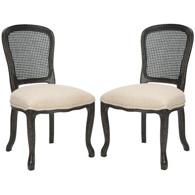 Monica Side Chair Finish: Antique Black