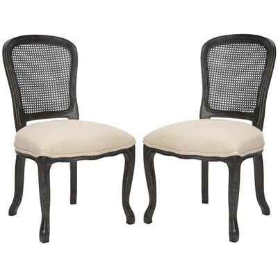 Monica Side Chair Color: Antique Black