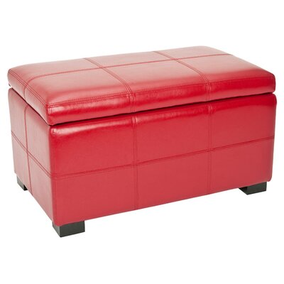 Lucas Leather Bedroom Storage Bedroom Bench Color: Red