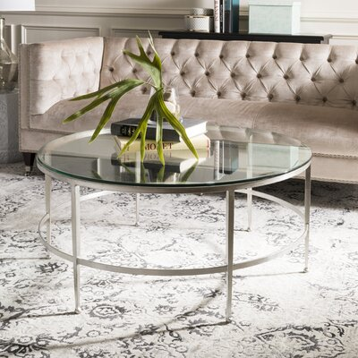 Edmund Coffee Table Table Base Color: Silver