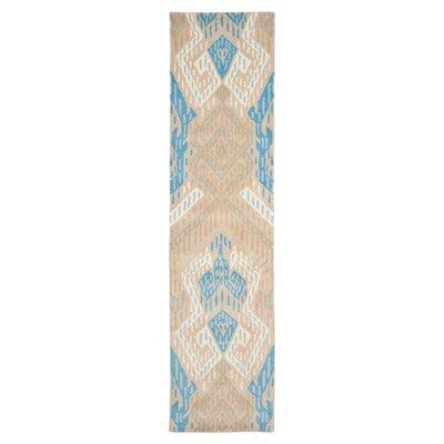 Wyndham Blue / Ivory Rug Rug Size: Runner 23 x 9