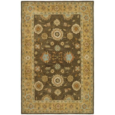 Anatolia Brown/Taupe Area Rug Rug Size: Rectangle 2 x 3